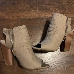 Peep toe booties never worn!